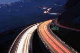 Mobilility Pricing: Autobahn in der Nacht