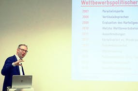 Samuel Rutz during the competition policy workshop